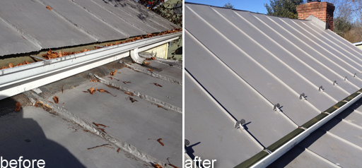 Metal Roof Bfore_after Expert Installation For Maximum Value
