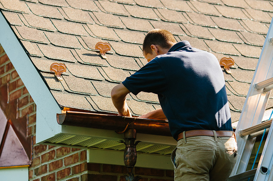 gutter cleaning from a professional roofing company