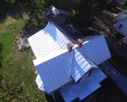 metal roof from valley roofing