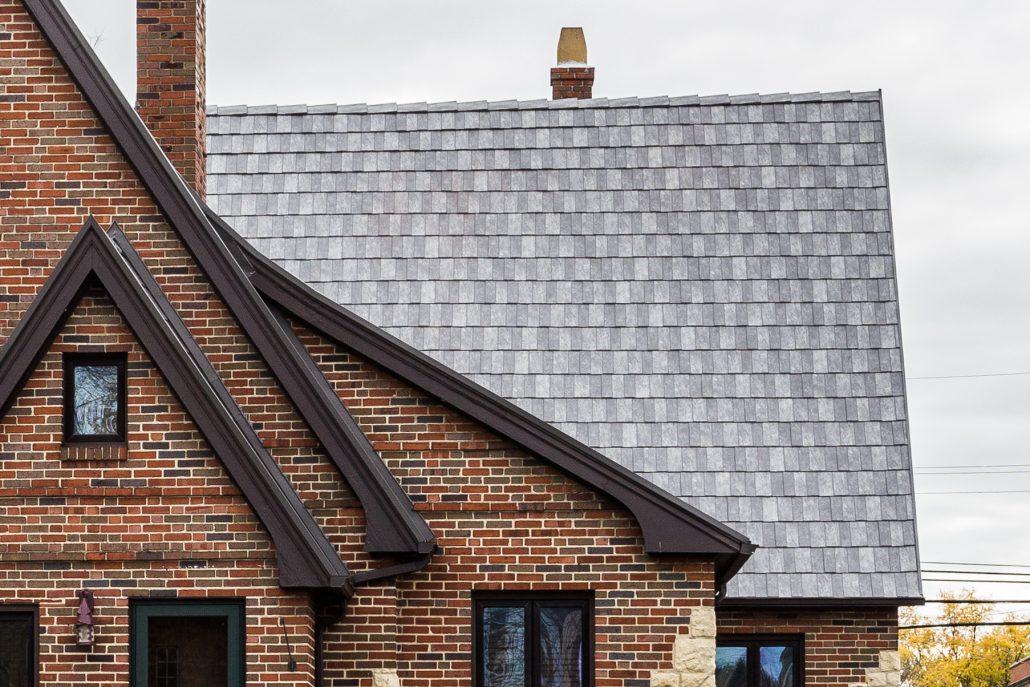 roof with slate shingles
