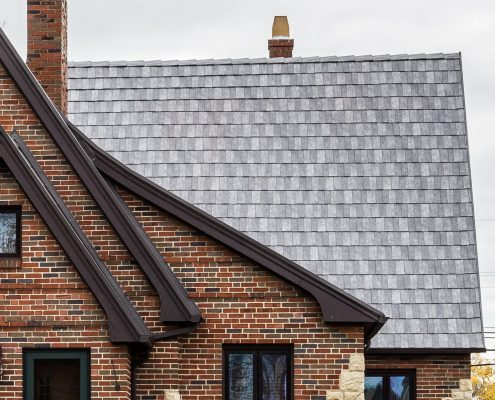 roof with slate shingles