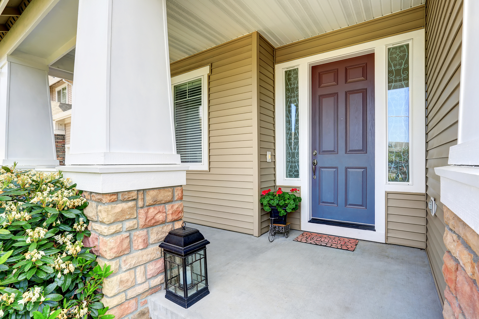 front exterior door in home