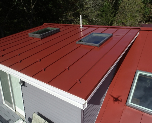 skylights on metal roof