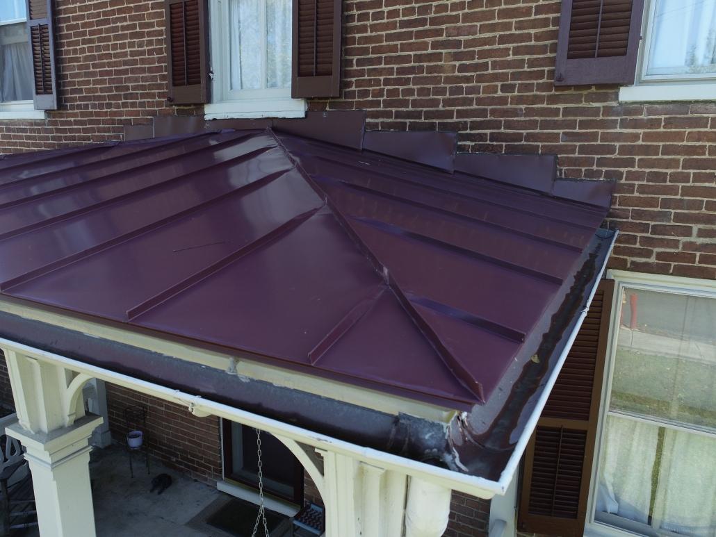 purple metal roof