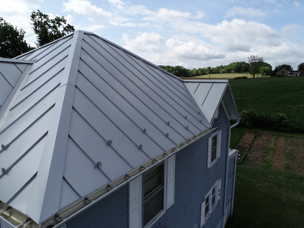 Metal Roofing on farmhouse