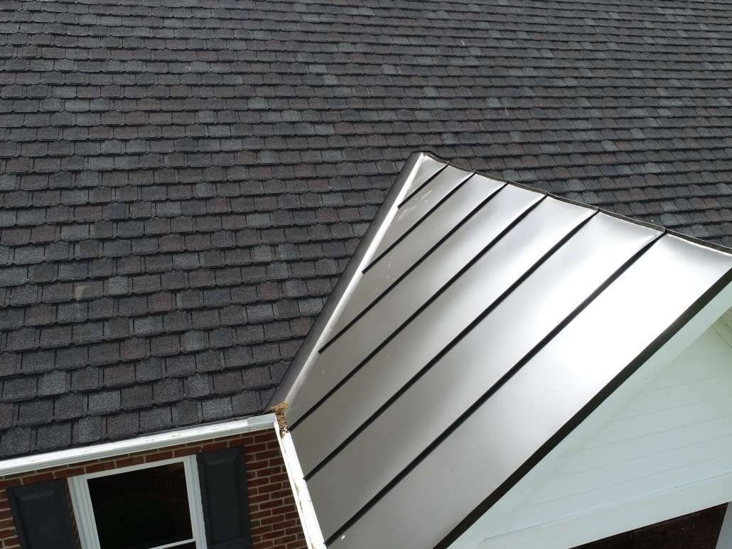 metal roof transition to shingle roof