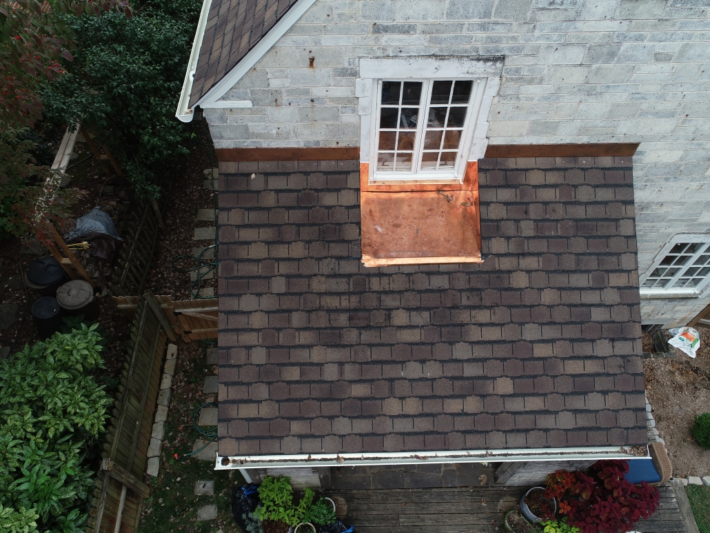 Copper Accents On Shingle Roof