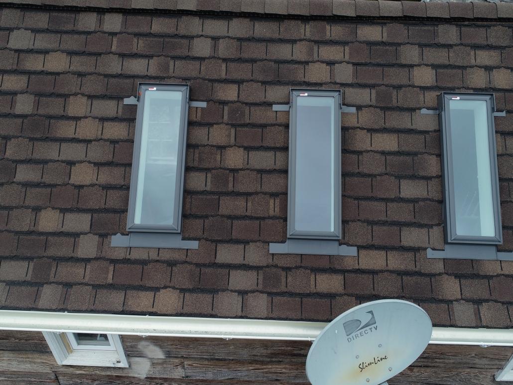 skylights on shingle roofing