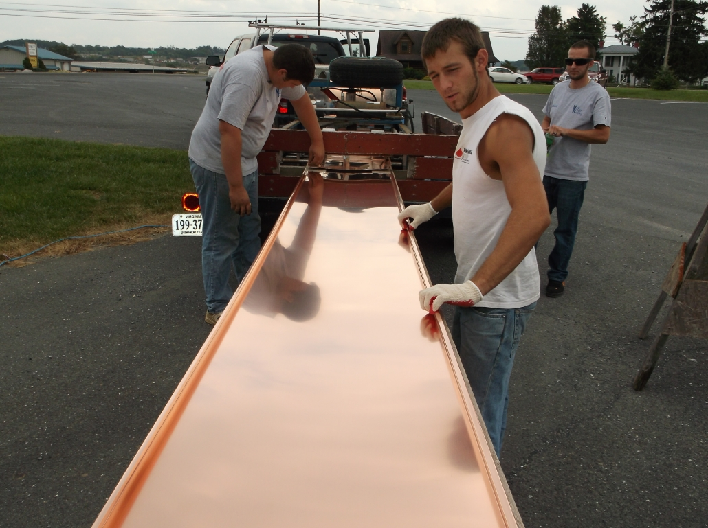 copper roofing process
