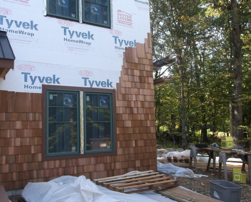 wood shingle siding