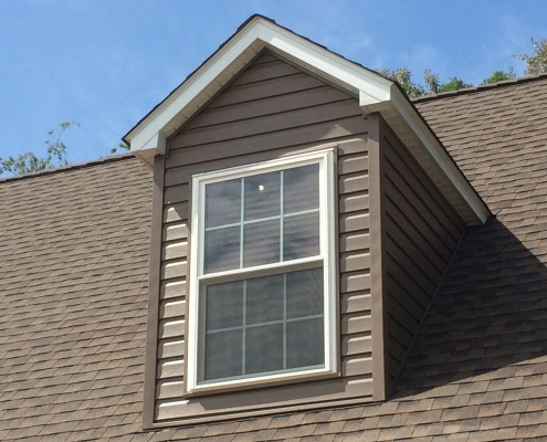 wood-like siding on dormers
