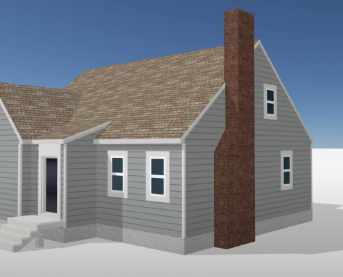 3D visualization of a new roof