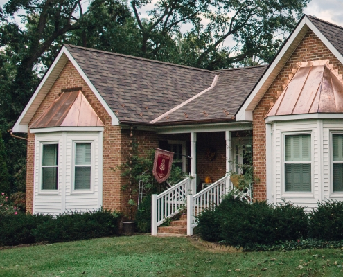 house with asphalt roof